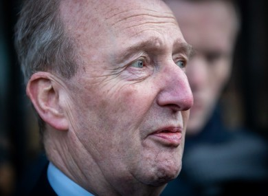 Shane Ross, pictured after yesterday's meeting with Uefa at government buildings.