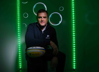Jamie Heaslip is pictured at the unveiling of Aviva's new Sensory Hub in Aviva Stadium.