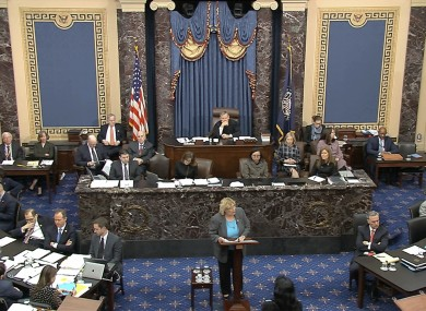 The impeachment trial against President Donald Trump in the Senate
