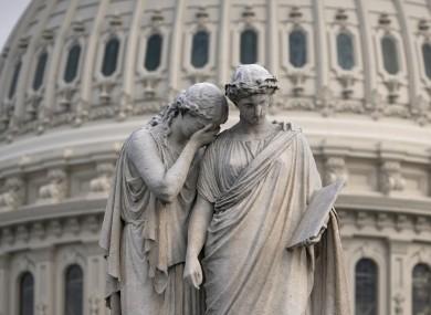 The Peace Monument outside the Senate in Washington.