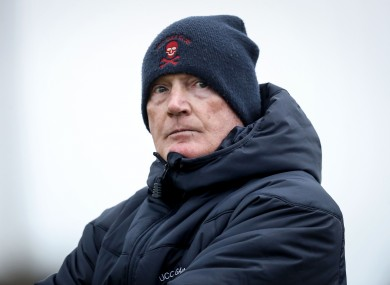 UCC manager Billy Morgan (file photo)