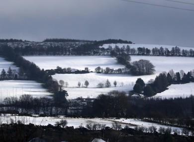 Snow scenes in west Wicklow yesterday.