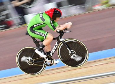 Kelly Murphy pictured competing at the event today.
