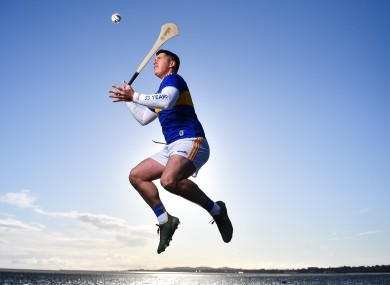 Tipperary hurler John O'Dwyer at the announcement of Allianz's five-year extension of its sponsorship of the Allianz Football and Hurling Leagues.