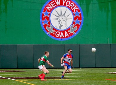 Mayo's Andy Moran in action at Gaelic Park last summer.