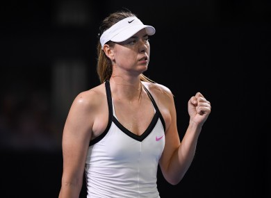 Maria Sharapova at the Brisbane International earlier this year.