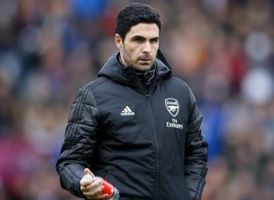 Arsenal manager Mikel Arteta (file pic).