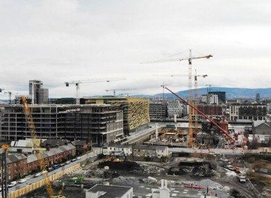 Site Progress photo, January 2019, from the North of City Block 2 looking South.
