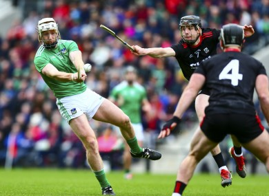 Cian Lynch in action for Limerick against Cork.