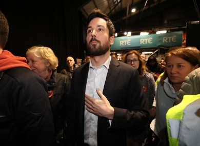 Former housing minister Eoghan Murphy at the RDS yesterday