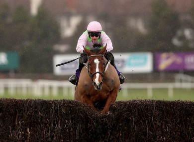 Faugheen ridden by Paul Townend on way to winning The Flogas Novice Steeplechase