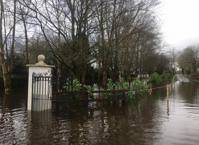 Flooding in Clare yesterday.