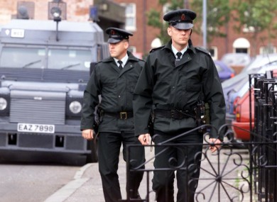RUC officers on patrol in Belfast (file photo)