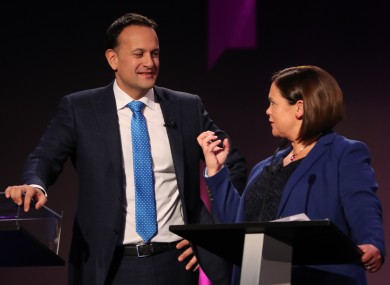 Varadkar and McDonald clashed in two leaders' debates this week.