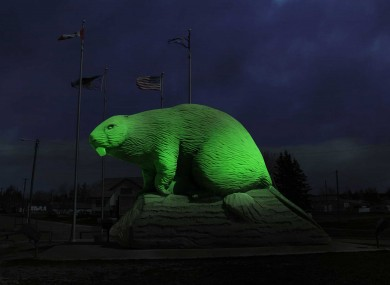 A mock-up of the Giant Beaver Sculpture, Beaverlodge