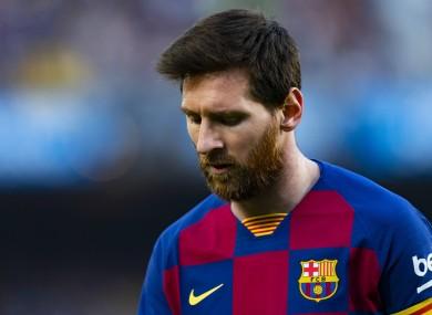 Surprised: Leo Messi.