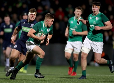 Crowley looks to attack in Cork last night.