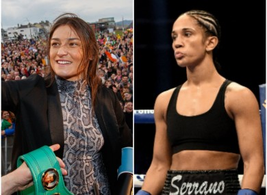 Amanda Serrano (R) says she'll be women's boxing's 'golden girl' after she relieves Katie Taylor of her undisputed title.