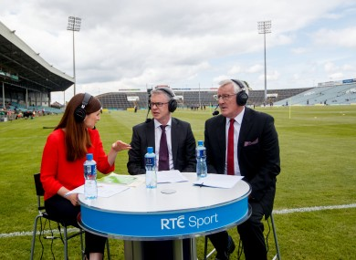 Joanne Cantwell, Joe Brolly and Pat Spillane on RTÉ during the 2018 championship.