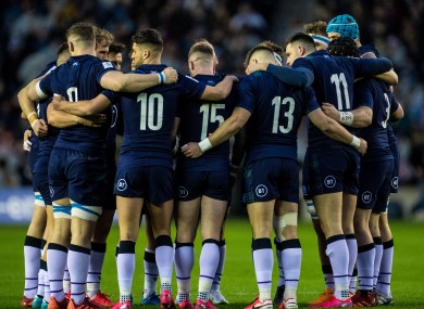 The Scotland team pictured before their recent Six Nations defeat to England at Murrayfield.