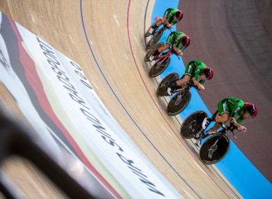 The Irish riders in action earlier this week.