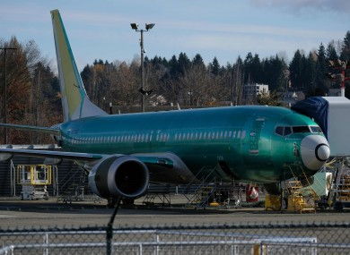 File photo. A 737 Max jet grounded at the Boeing factory in the US.