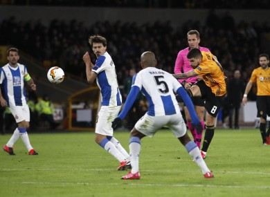 Belter: Neves put Wolves into a 2-0 lead.