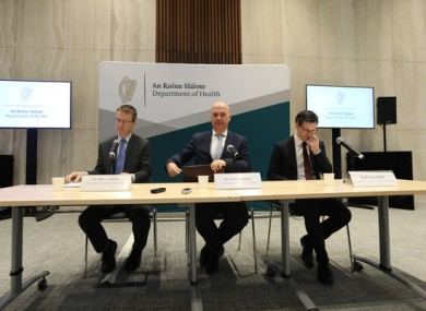 A Department of Health briefing in Dublin last night,