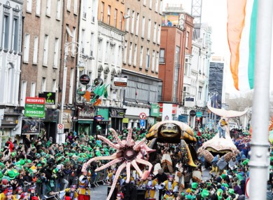 St Patrick's Day parade in Dublin last year.