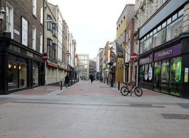 Duke Street in Dublin which has been impacted by the Coronavirus outbreak.