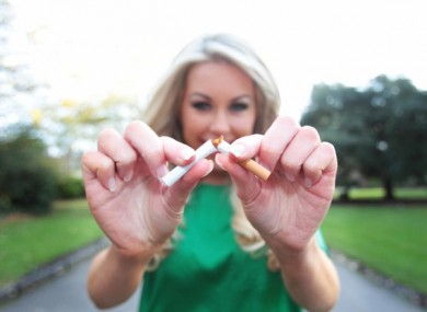 File photo. STUB IT OUT!.Model Tiffany Stanley encourages Ireland's smokers to stub it out and quit. Photo Leon Farrell/Photocall Ireland