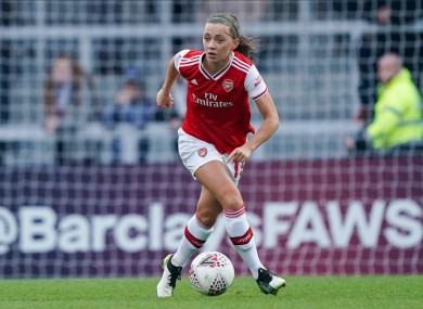 Katie McCabe plays her club football for Arsenal.