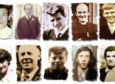 The victims of the Ballymurphy massacre.