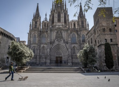 The Cathedral of Barcelona. Spain has been one of the worst-hit countries from Covid-19.