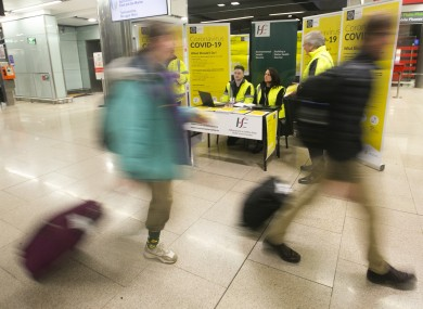 A HSE team at Dublin Airport.