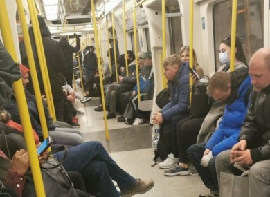 Critics claim that social distancing guidelines are impossible to follow on Underground trains