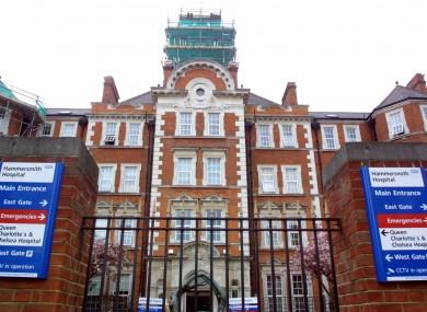 Hammersmith Hospital in west London.