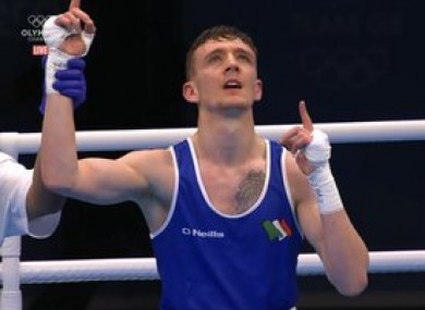 Brendan Irvine celebrates qualification for his second Olympic Games.