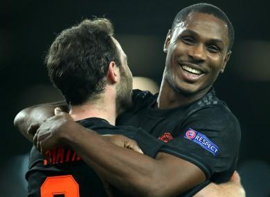 Odion Ighalo celebrates his goal.