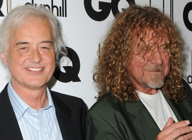 (L to R): Jimmy Page and Robert Plant