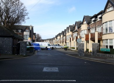 The scene of the fatal stabbing incident at Brownsbarn Estate, Kingswood near City West Dublin.