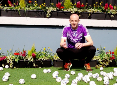 Ronan Murphy before delivering 150 sliotars to youngsters around Cork.