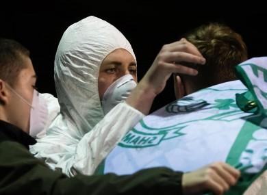 A Shamrock Rovers fan at last week's game against Sligo Rovers.