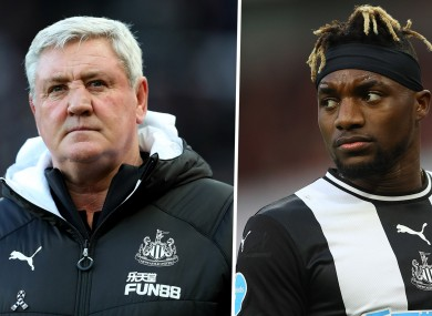 Steve Bruce insists he has no issues with Allan Saint-Maximin.