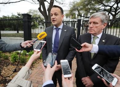 Leo Varadkar with Irish ambassador to the US Dan Mulhall