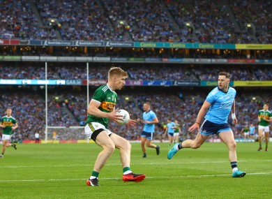 Kerry's Tommy Walsh and Philip McMahon of Dublin during the 2019 All-Ireland final.