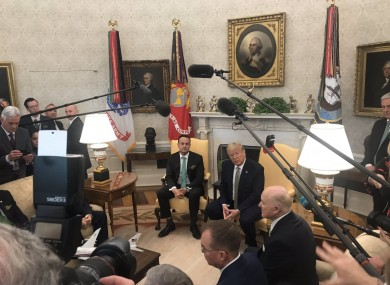Varadkar and Trump in the Oval Office