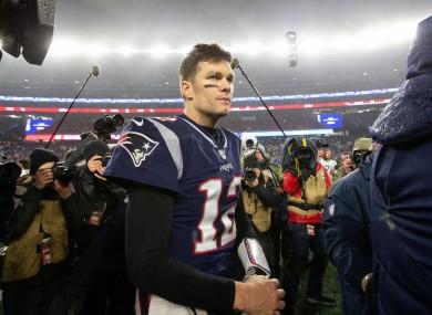 Goodbye: Tom Brady.