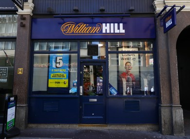 File photo dated 04/07/19 of a branch of William Hill on Ludgate Hill, in central London.