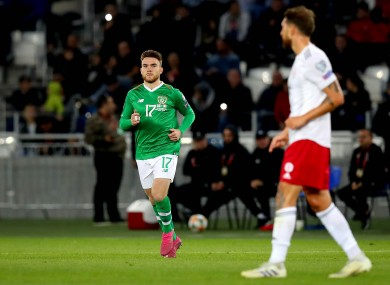 Aaron Connolly made his senior Republic of Ireland debut away to Georgia last October.